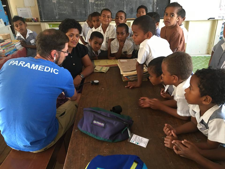 Peter Dawson paramedic lessons for children in fiji - Hospital Internship & Health Program Review