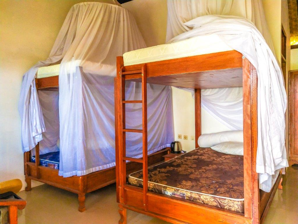 bedding with mosquito nets
