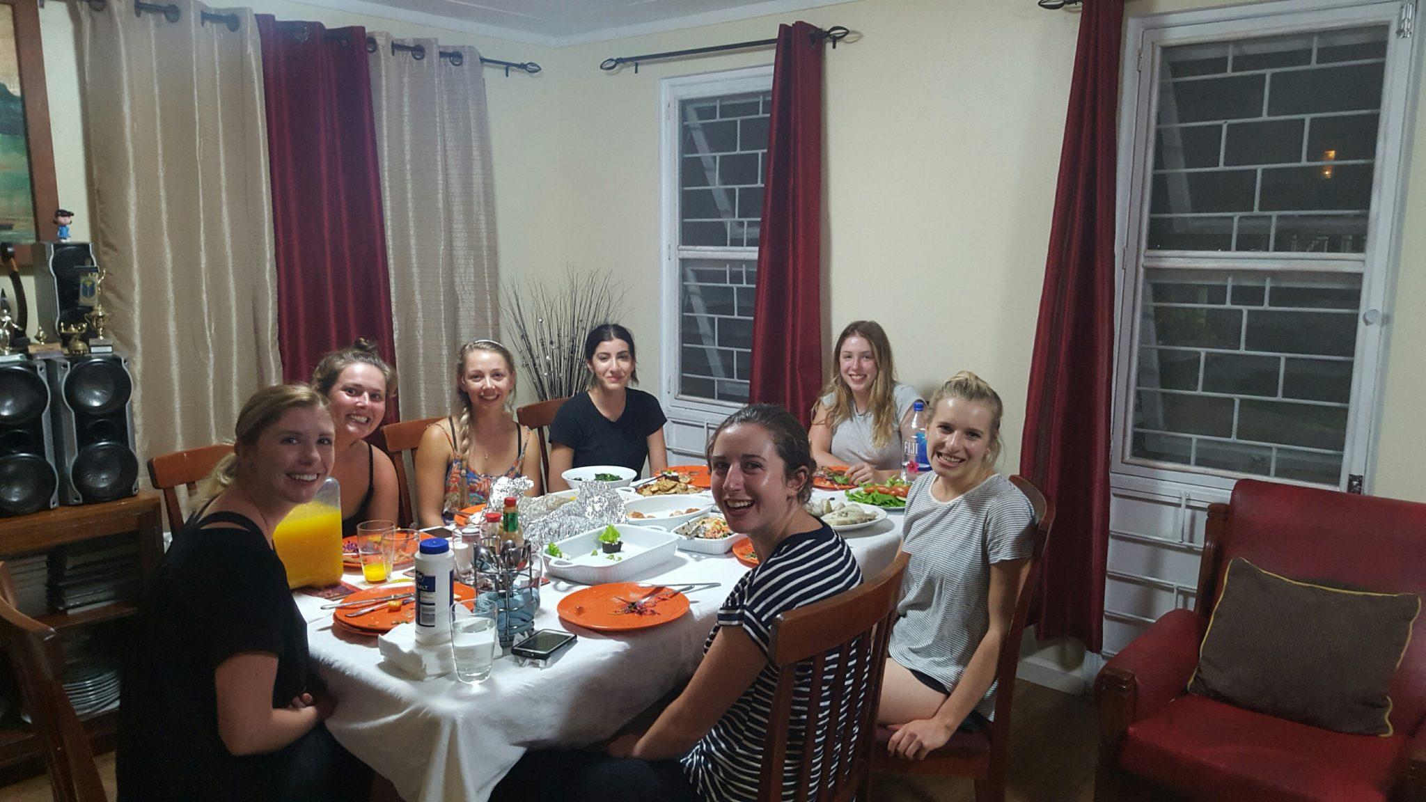 Volunteer dinner at Masi's