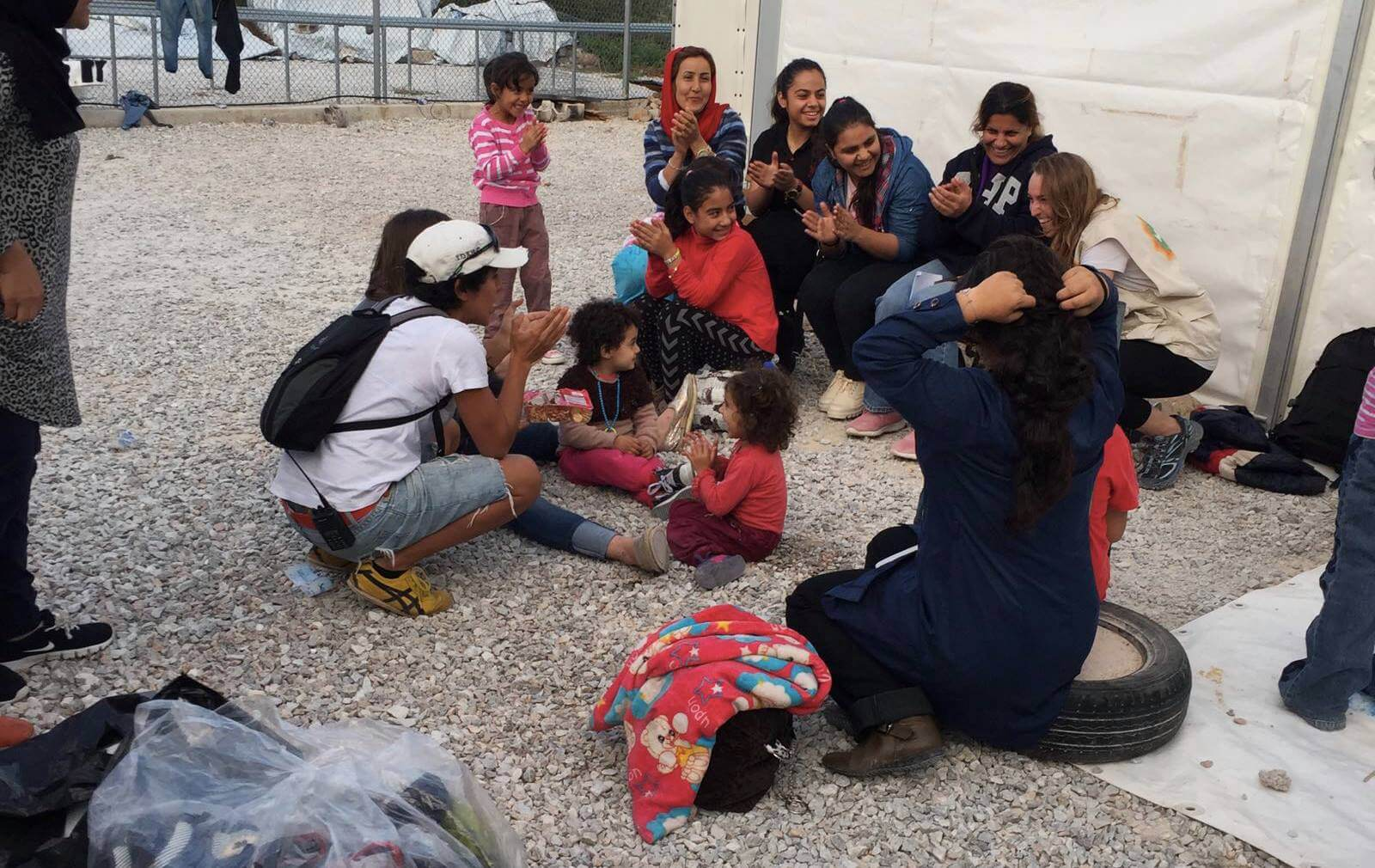 community volunteering with refugees