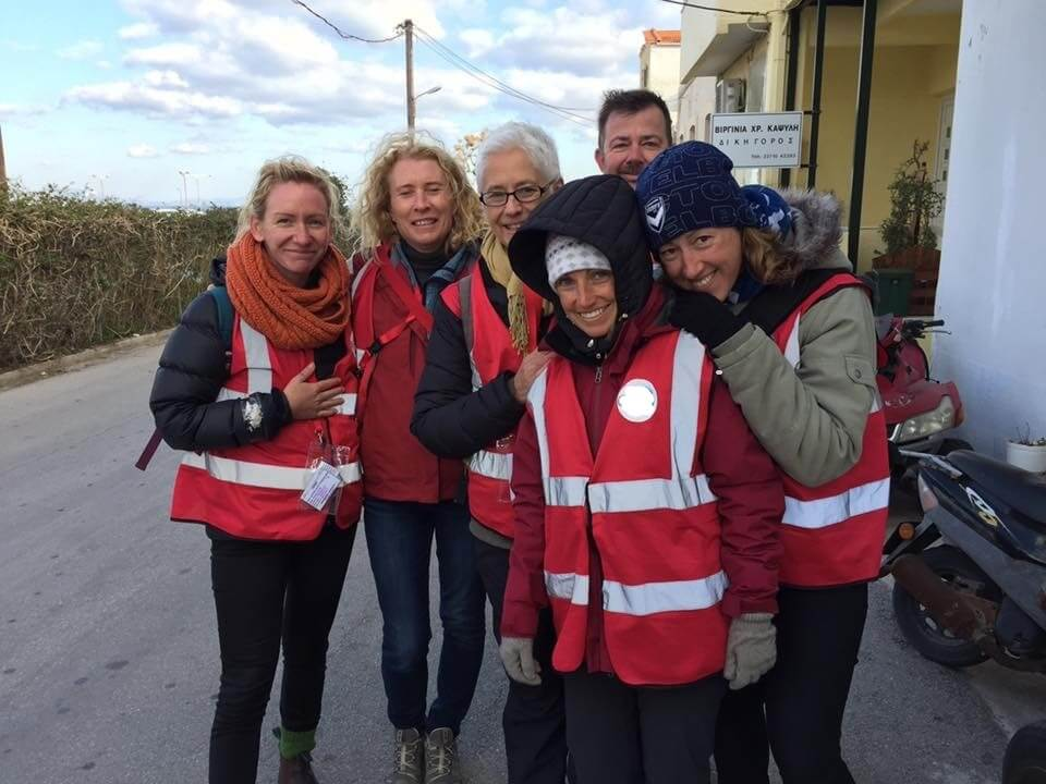 Syrian refugee medical volunteer work Greece