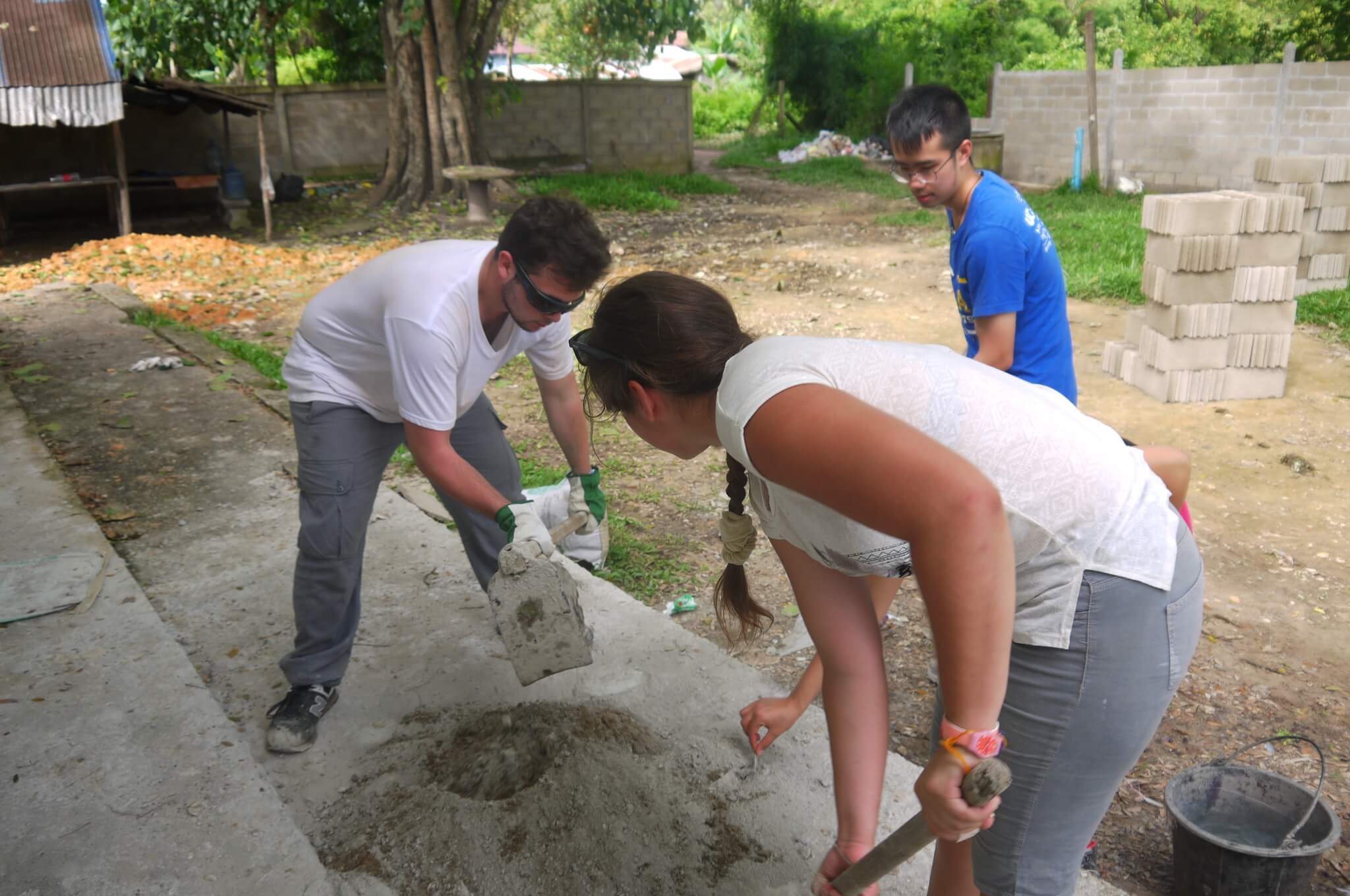 renovating a school in laos through involvement Volunteers