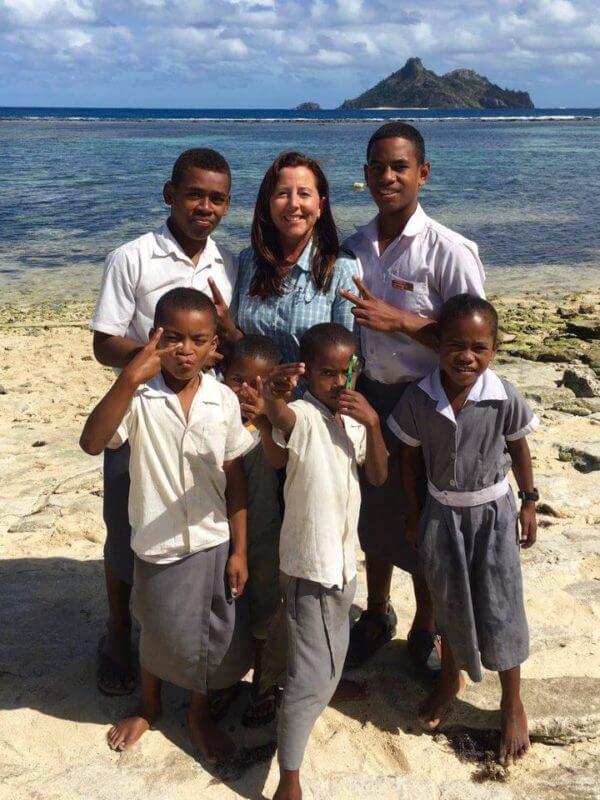 Remote island teaching Fiji