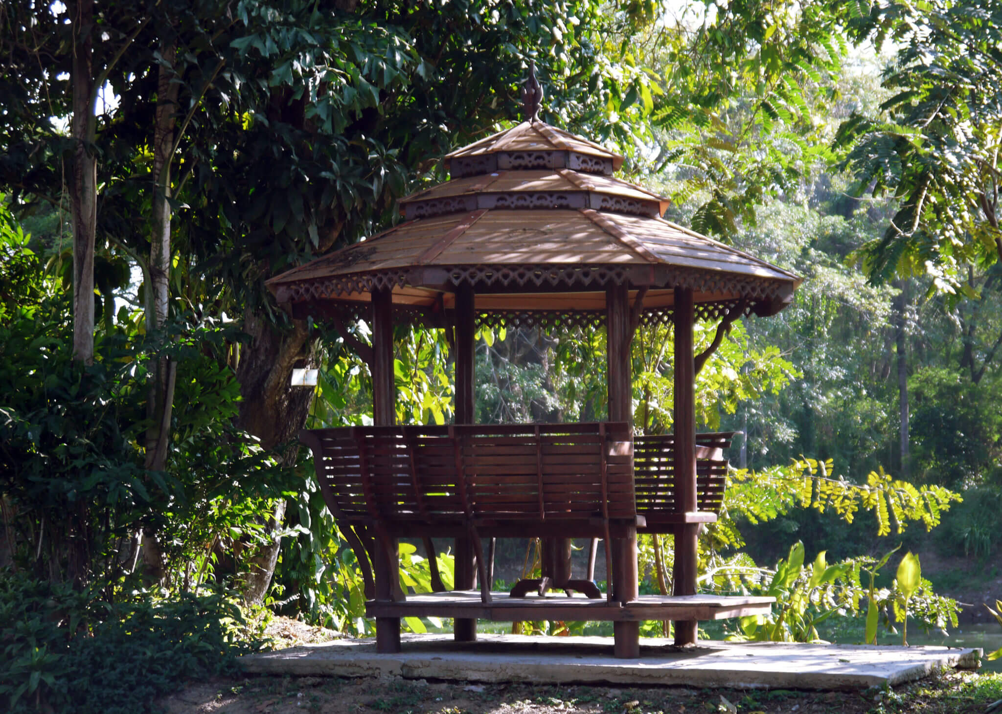 Thailand private room gazebo in