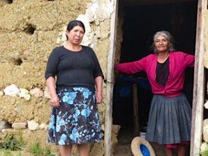 village residents in peru