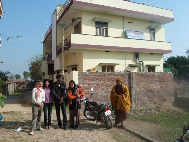 our accommodation in bodhgaya