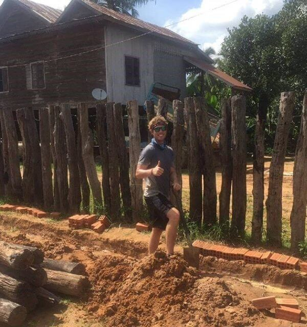 Jarred in cambodia construction volunteering