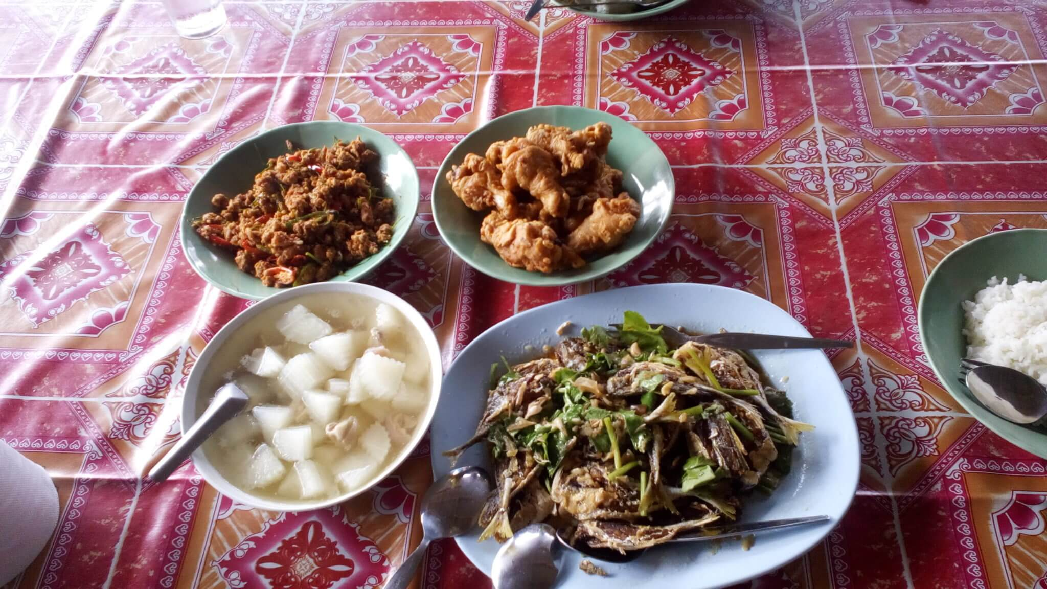 meals for the volunteers in thailand