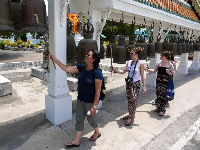 culture week thailand ringing the bells