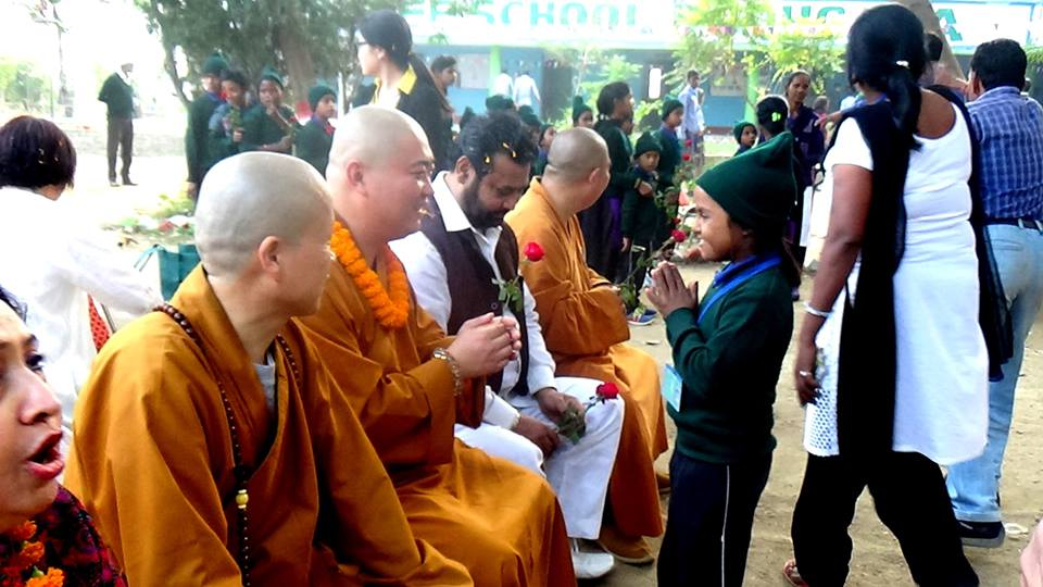 monks - Bodhgaya India Volunteering - 2017