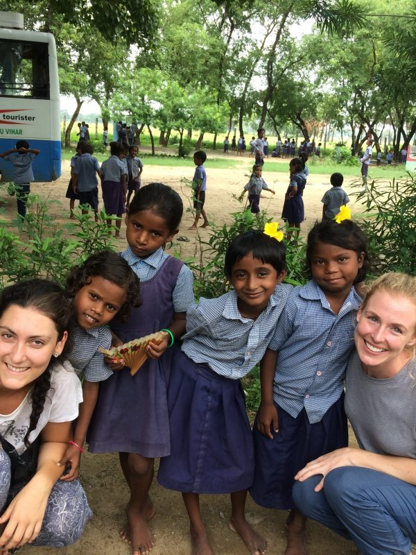 sarah and vols with kids 600x800 - Nutrition & Healthcare Volunteering Abroad - Bodhgaya India - 2017