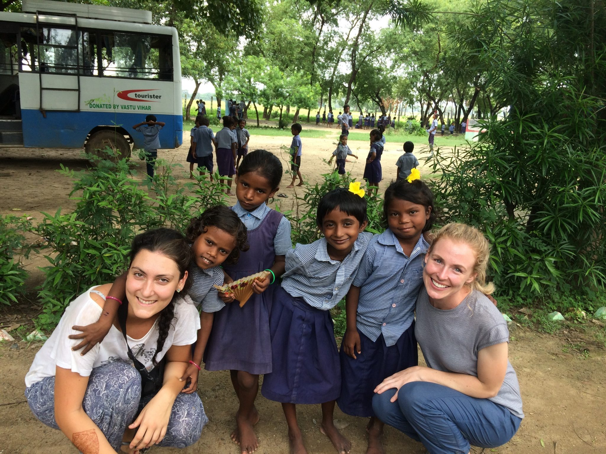 sarah and vols with kids - India
