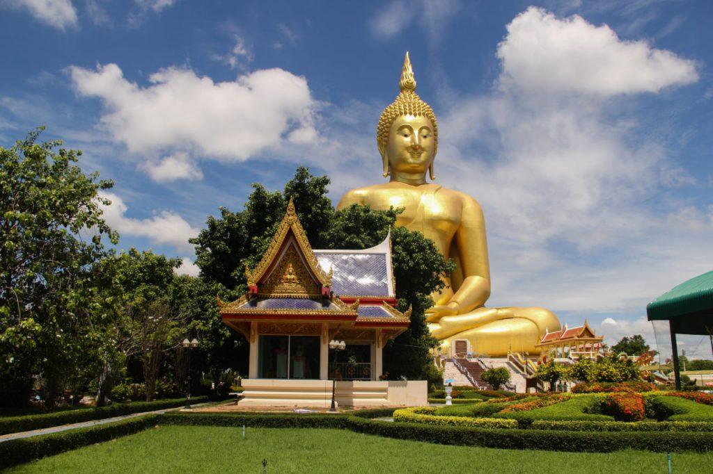 The golden buddha in thailand