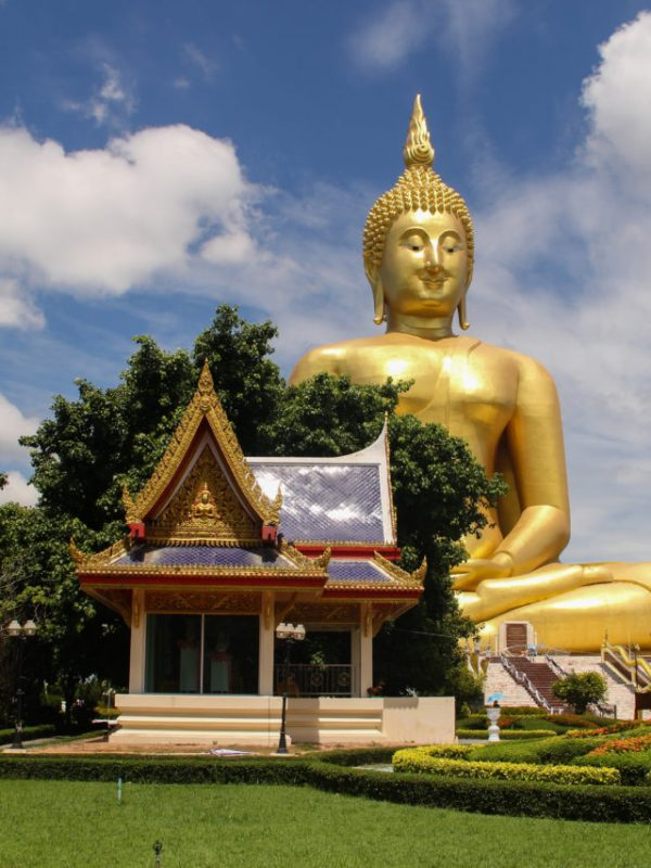 The golden buddha in thailand