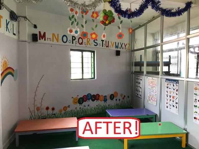 After refurbishment kindergarten