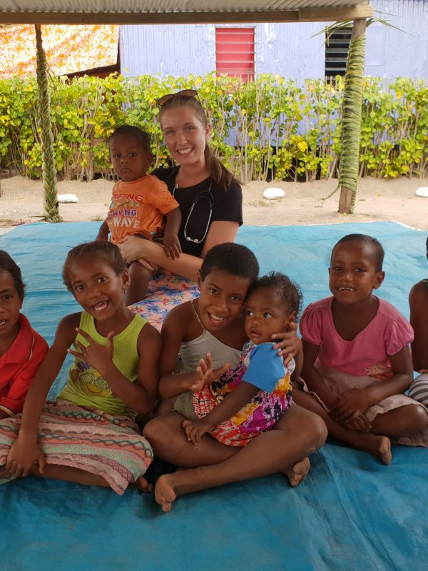 Beth franks with the children in the village in fiji 600x800 - Fiji Public Health Outreach Paramedic Review