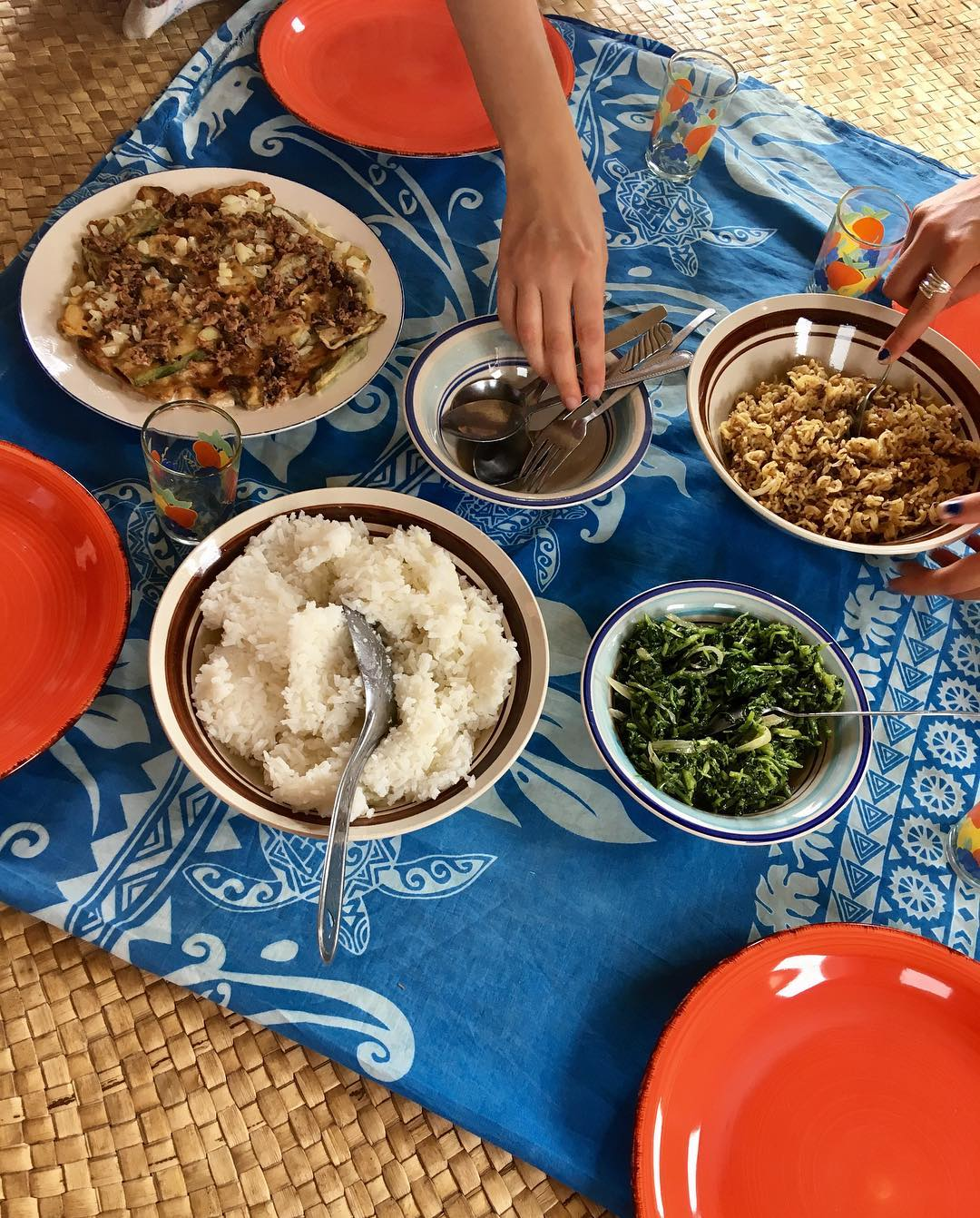 typical fijian meal as a volunteer with IVI