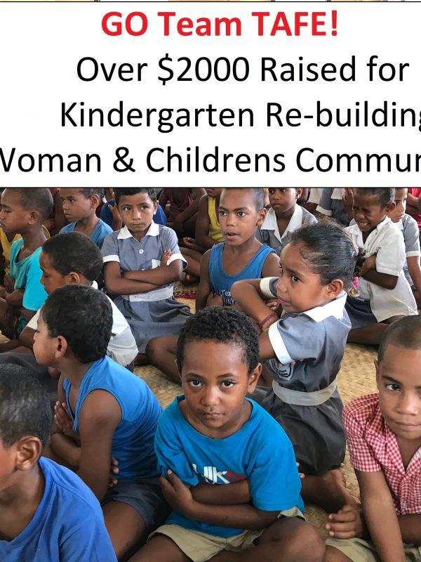 TAFE team fundraising target hit 600x800 - Team TAFE Kindergarten Rebuilding Fiji