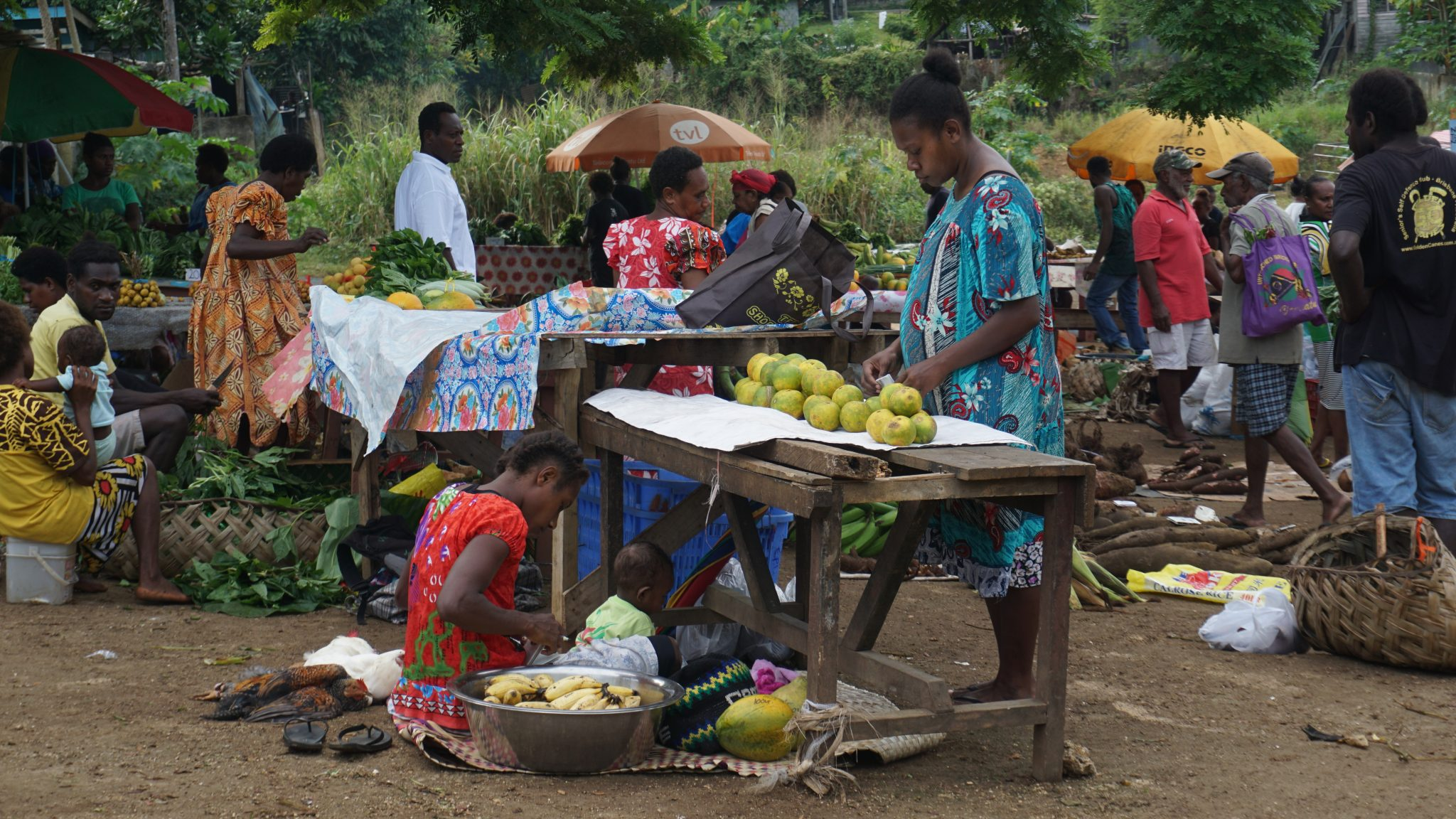 local market stall - Public Health & Nutrition Review from Vanuatu