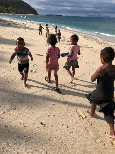 kids on the beach - Fiji Island Teaching Testimony
