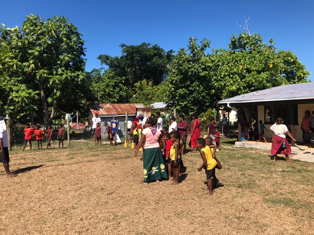 rural school villagers having fun and playing soccer - Fiji Island Teaching Testimony