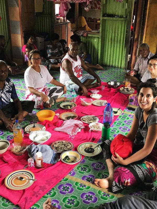 Volunteer in fiji sitting with villagers having talk about nutrition 600x800 - The Life of a Volunteer on Fiji's Nutrition Projects
