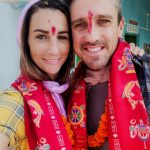 Survivor couple Elena Rowland & Lee Carseldine in Bodhgaya, India