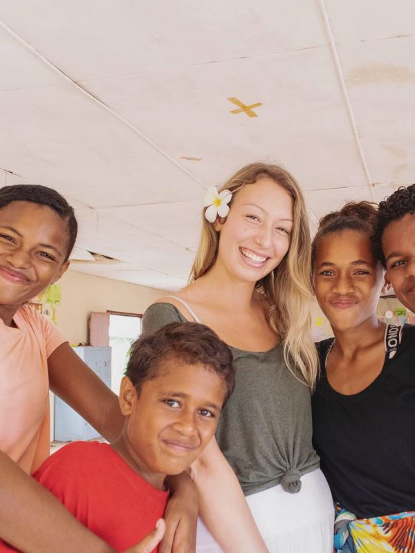 lila with fiji friends in pacific harbour 600x800 - English Teaching Review Sigatoka