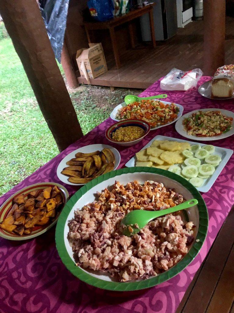 Meals provided to Volunteers in Vanuatu