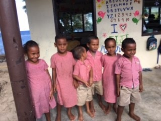 kindgarten children fijian volunteer placement