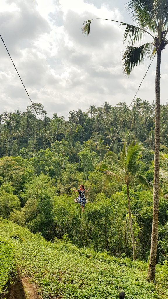 massive rope swing in bali with katherine gajo IVI volunteer 576x1024 - Healthcare Education Experience Bali
