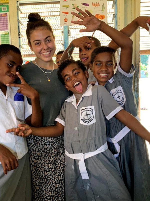 great shot with fiji kids 600x800 - Teaching English in Fiji