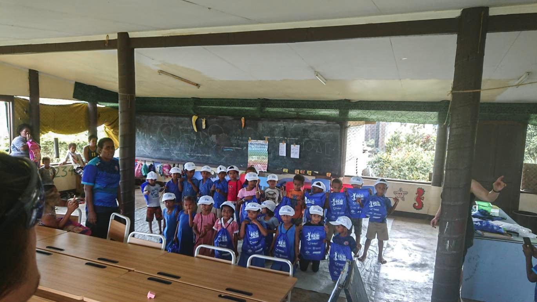 Fijian school children in classroom