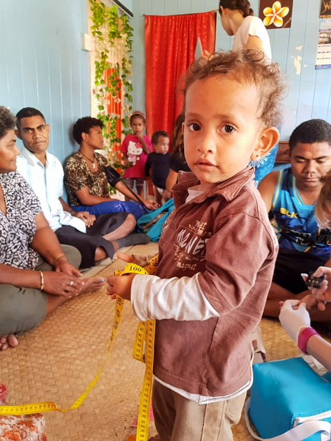 young boy at the nutrition clinic