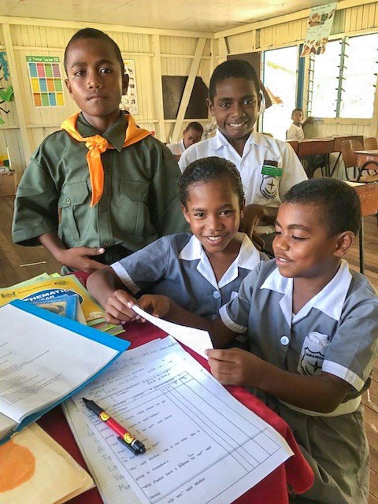 Fiji children at school
