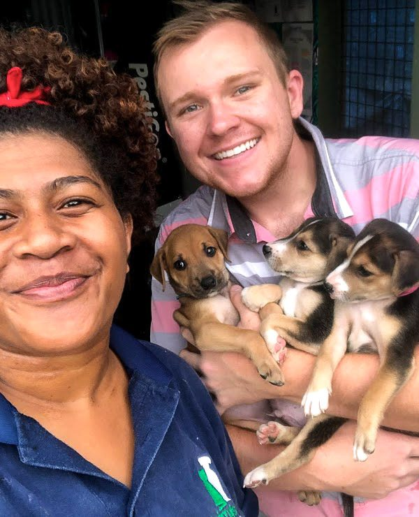 Fiji animal shelter volunteer