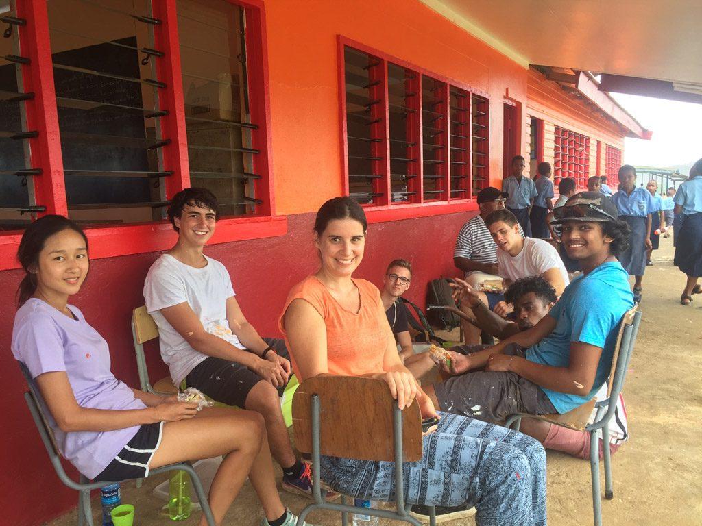 volunteers at Suva kindergarten
