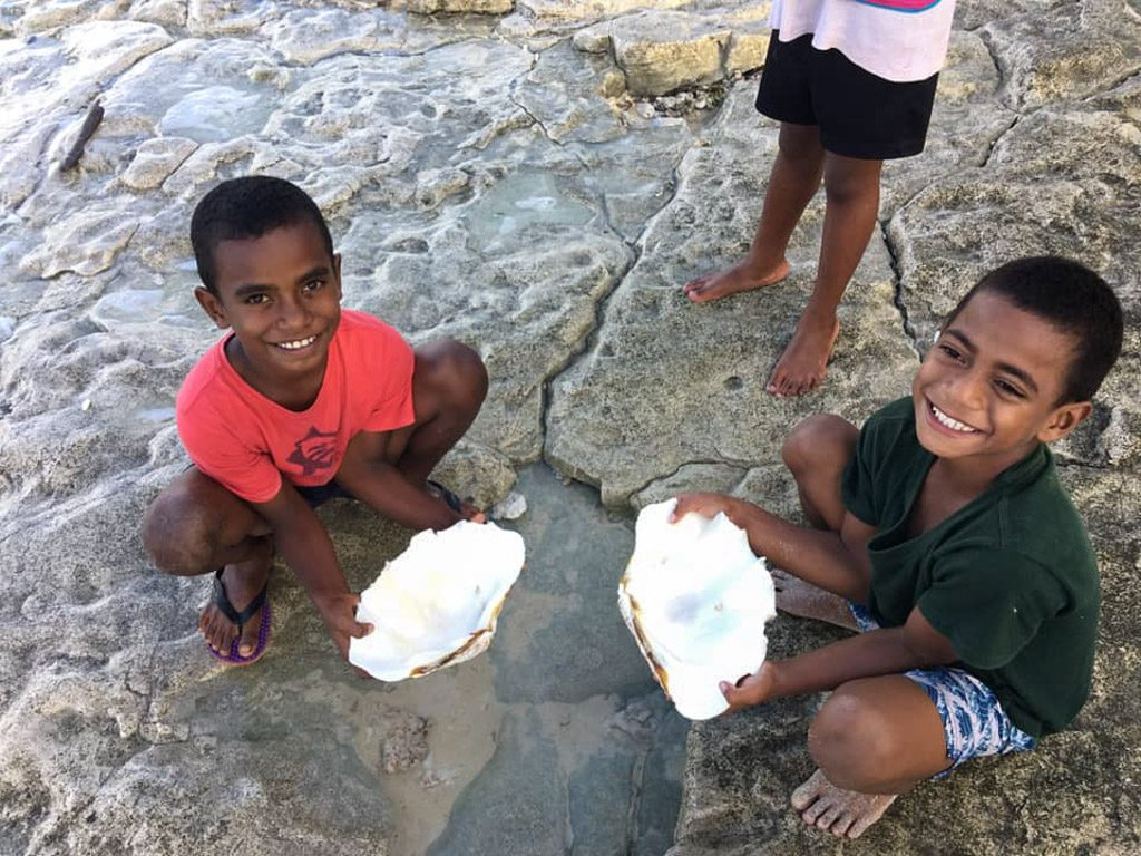 Fiji kids playing