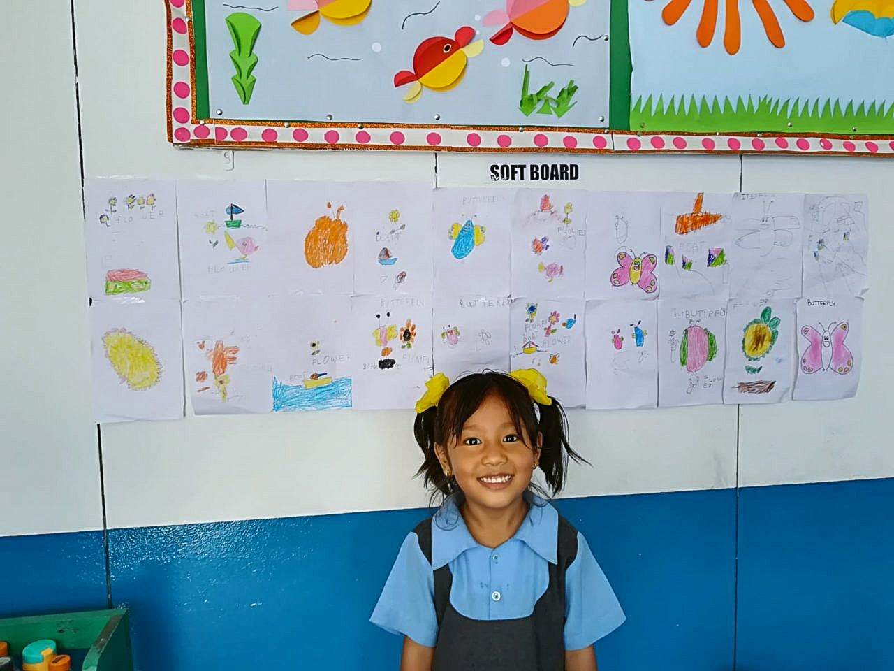 Young girl in Nepal kindergarten IVI project