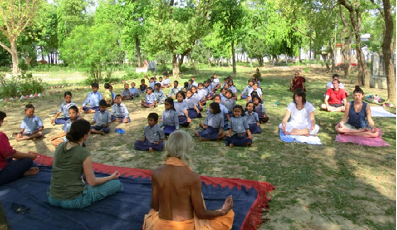 volunteering Bodhi Tree School