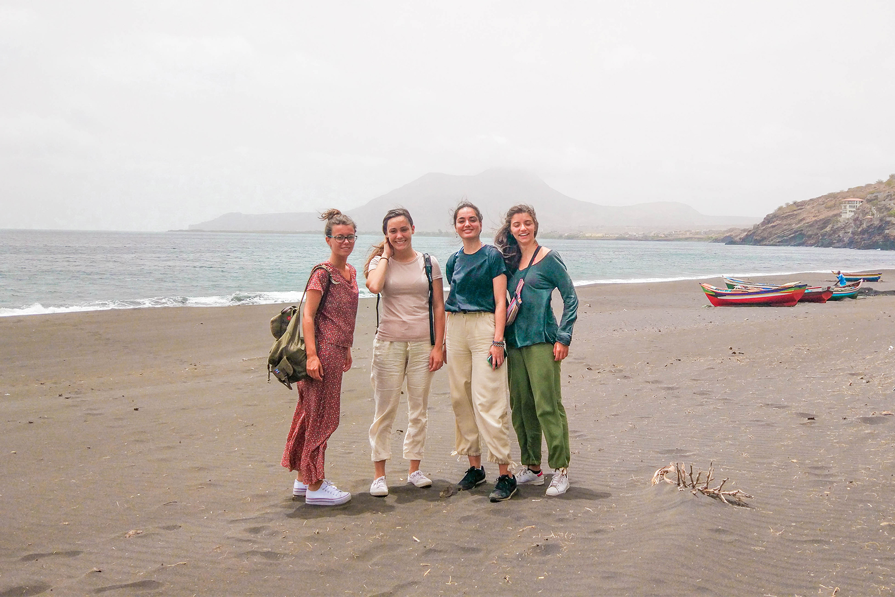 volunteers on Cape Verde island