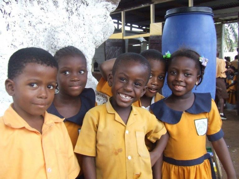 smiling Ghanaian children