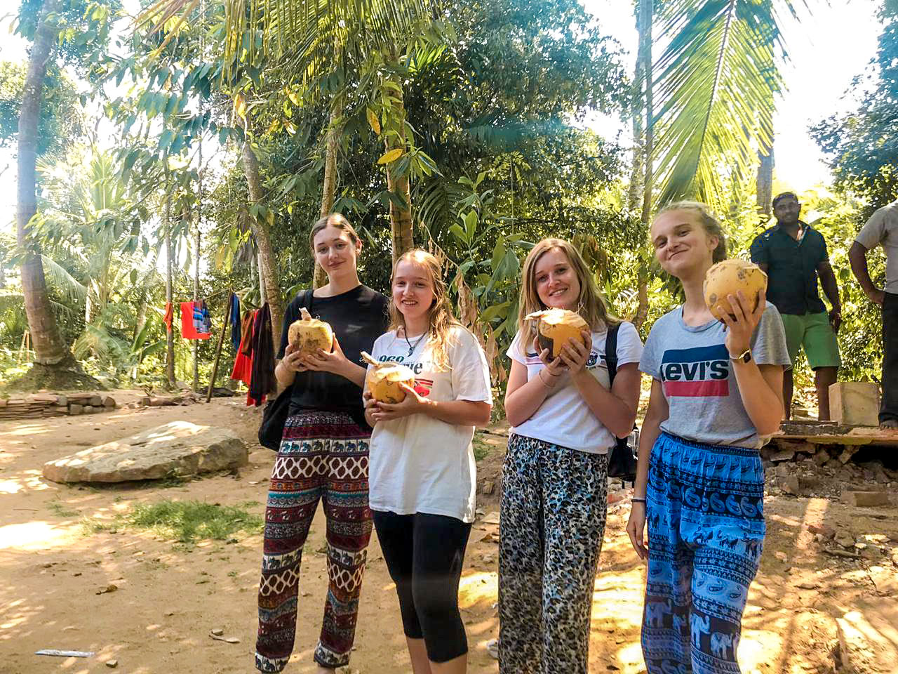 drinking from coconuts in Sri Lanka