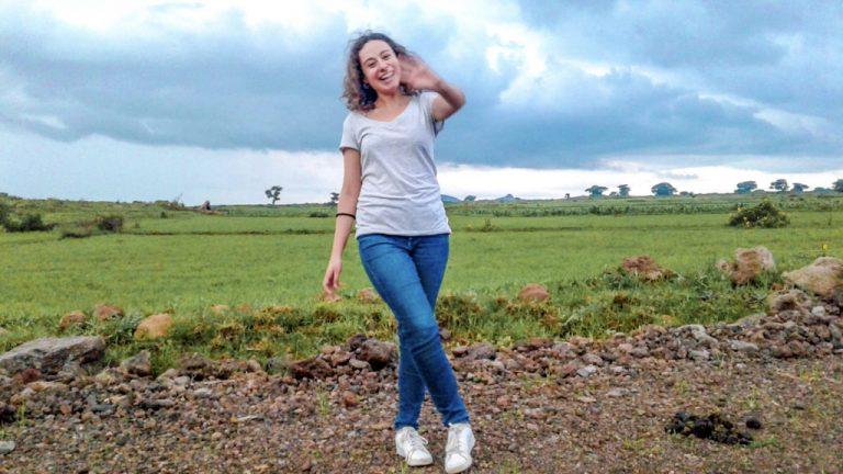 girl standing on rural land in Kenya-2