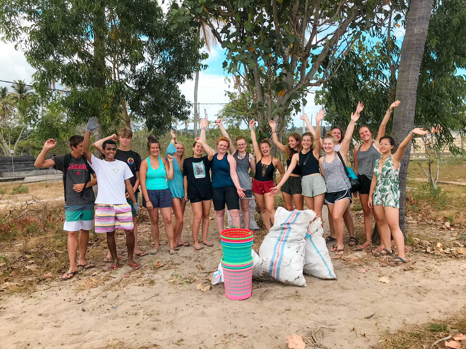 group at the turtle conservation project