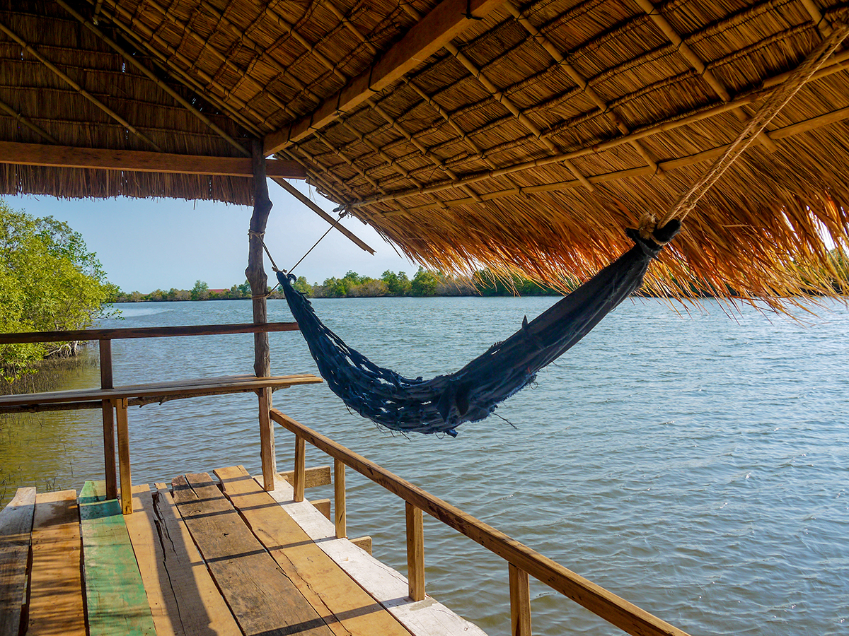 hammock overlooking river