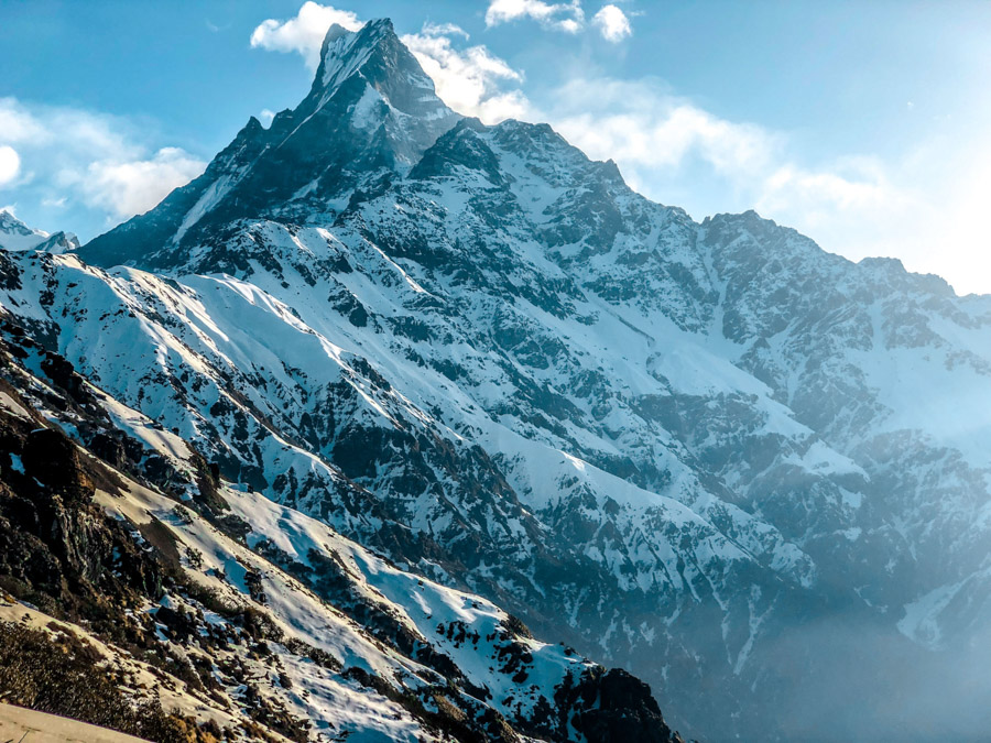 snow capped mountains in Nepal