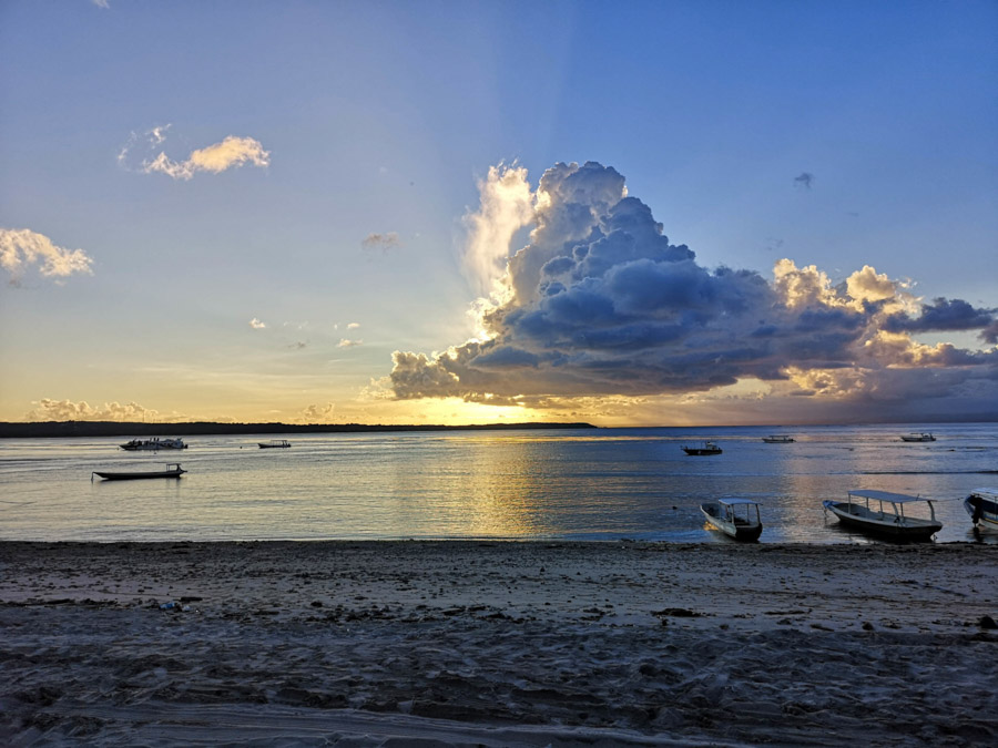 sunset over beach-2