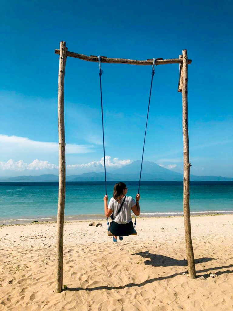 swing on beautiful beach