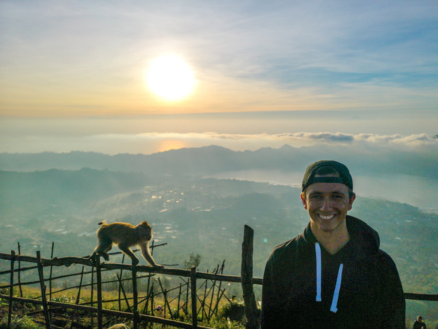 top of mountain in Bali-